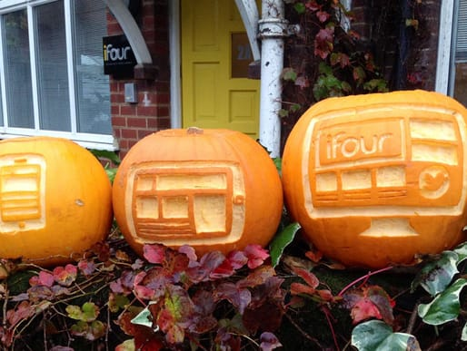 The responsive pumpkins carved by ifour