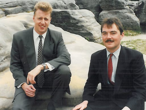 Andrew Metcalf and Philip Jones in 1995